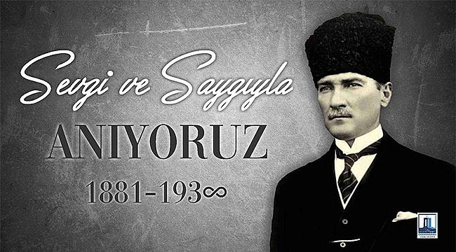 Vali Aktaş'ın 10 Kasım Gazi Mustafa Kemal Atatürk'ü Anma Mesajı