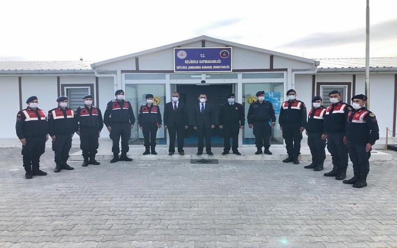 Vali Aktaş'tan Sütlüce Jandarma Karakol Komutanlığına Ziyaret