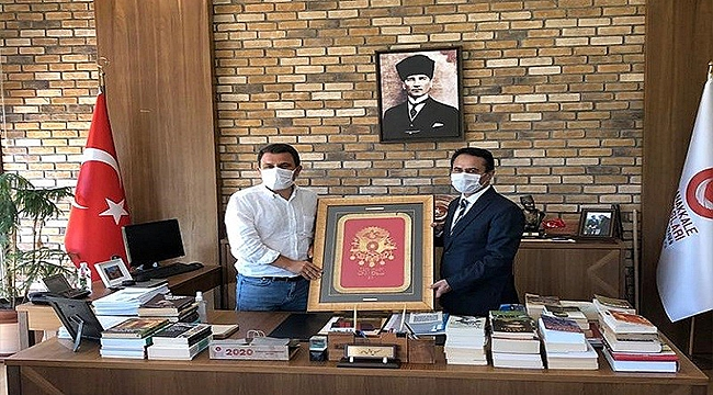 Vali Aktaş'tan Tarihi Alan Başkanı Kaşdemir'e Ziyaret
