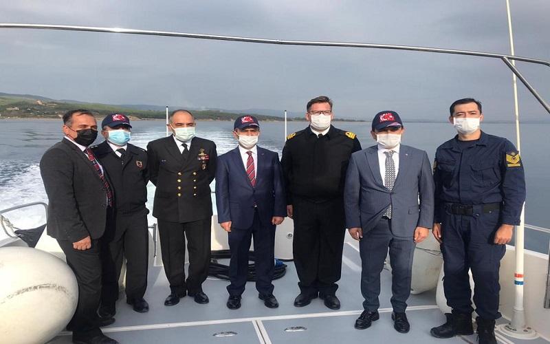 Vali İlhami Aktaş, Çanakkale'nin Sahillerini Denizden İnceledi