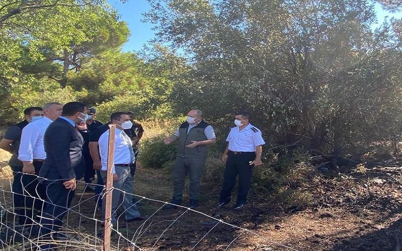 Vali İlhami AKTAŞ, Tavaklı Köyü Yangın Bölgesindeki Çalışmaları Yerinde İnceledi