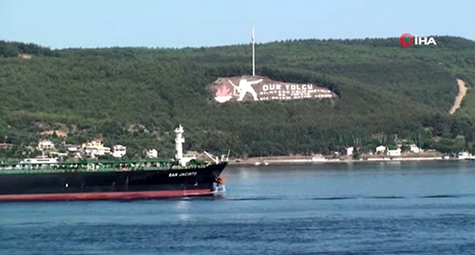300 metrelik dev tanker Çanakkale Boğazı'nı kapattı