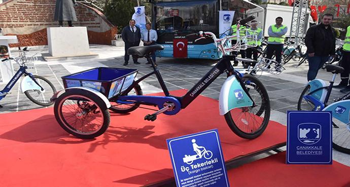 Çanakkale Belediyesinden Yine Bir İlk; ÇABİS'e Tandem ve Kargo Bisikletler Geliyor