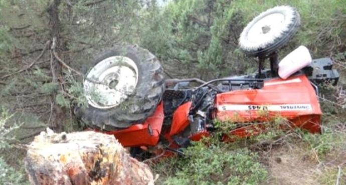 Devrilen traktörün altında kalan orman işçisi öldü