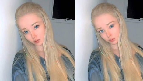 İnsan Barbie Valeria Lukyanova Makyajsız Halini Paylaştı