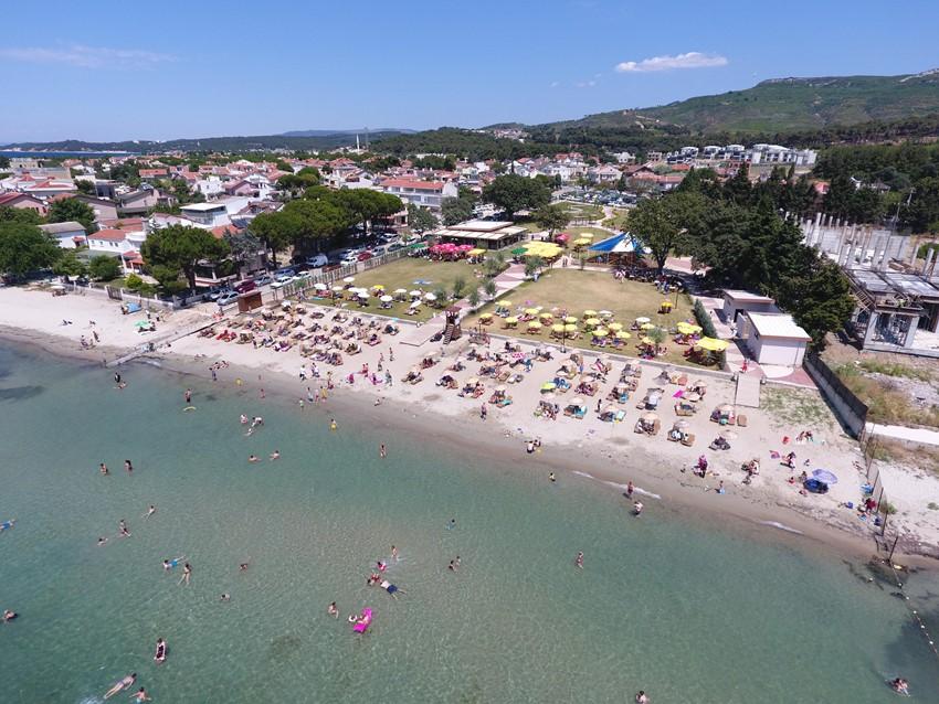 Güzelyalı Halk Plajı Sıcak Yaz Günlerinde Kentlilerin Vazgeçilmez Adresi Oldu