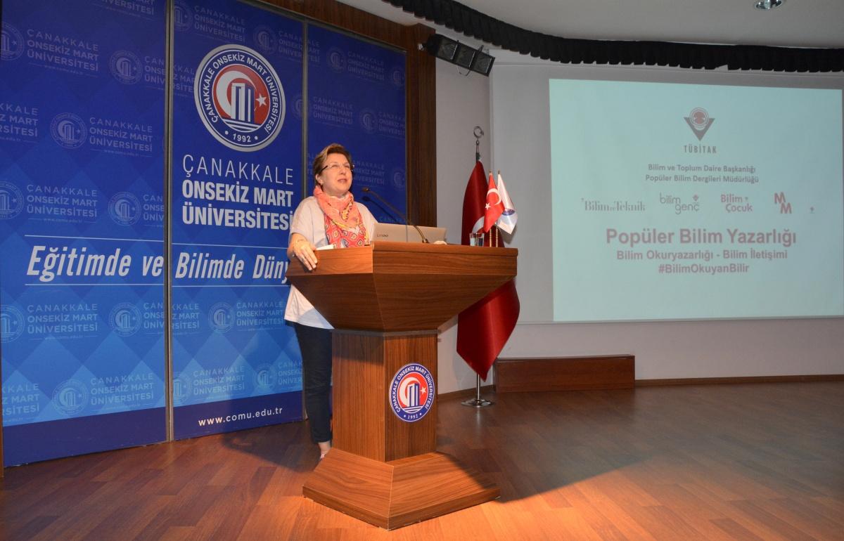 """TÜBİTAK """"Popüler Bilim Yazarlığı """"Söyleşisi ÇOMÜ'de Gerçekleşti"""