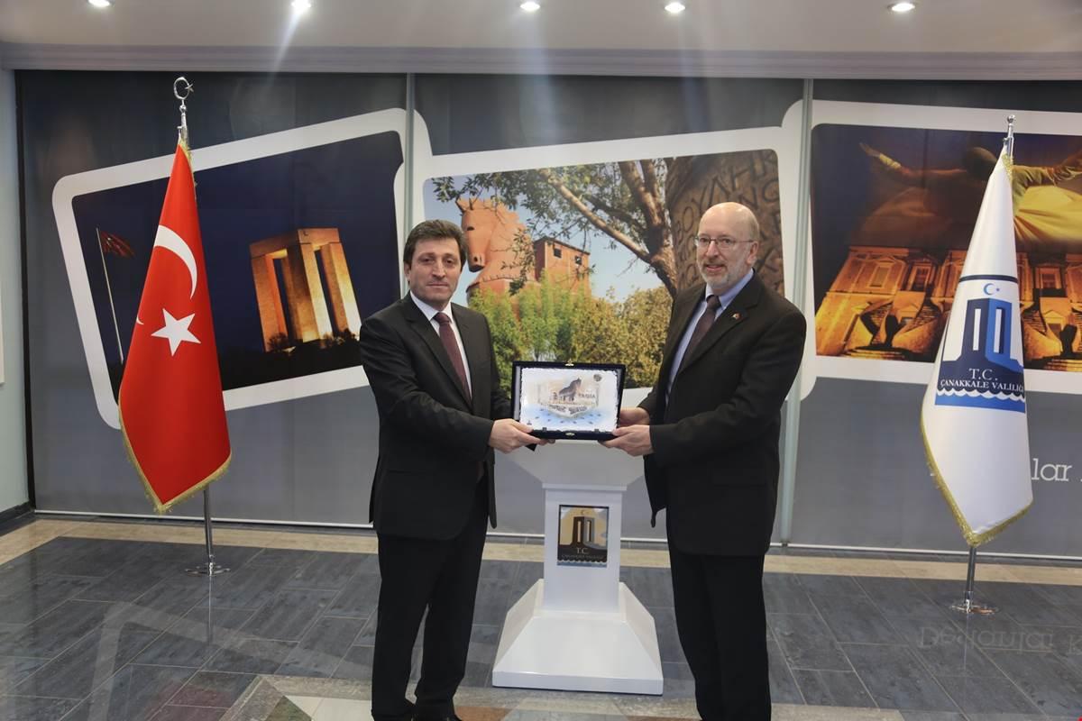 Kanada Newfoundland ve Labrador Eyaleti Meclis Başkanı Perry TRIMPER, Çanakkale'de