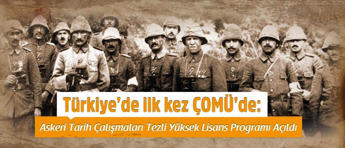 Türkiye'de ilk kez ÇOMÜ'de
