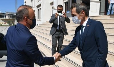 AK Parti Grup Başkanvekili Bülent Turan, İl Genel Meclis Başkanı Nejat Önder'i ziyaret etti