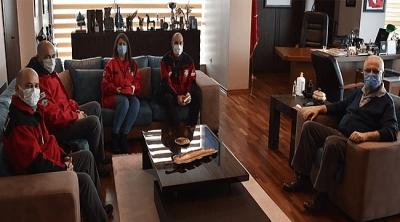 AKUT Ekibinden Başkan Gökhan'a Ziyaret