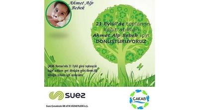 Atık Kağıtlar Ahmet Alp Bebek İçin Dönüştürülecek