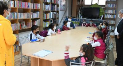 Barbaros Hayrettin Paşa Öğrencilerinden Kütüphaneye Ziyaret