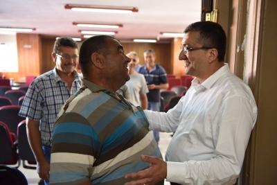 Başkan Bülent Öz, Belediye Personeliyle Bayramlaştı
