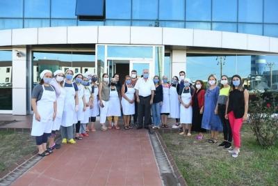 Başkan Gökhan Trodia Kadın Kooperatifini Ziyaret Etti