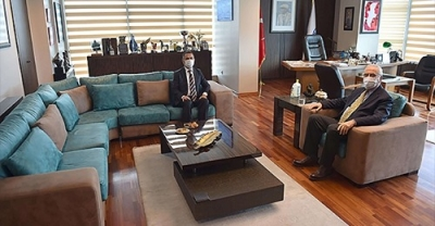 Başkan Gökhan, Vali İlhami Aktaş'ı Ağırladı