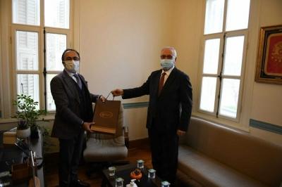 Başkan Gökhan'dan, İl Kültür ve Turizm Müdürü Yılmaz'a Ziyaret