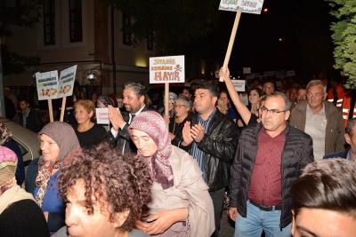 Bayramiç'te Kazdağları Savunması Yürüyüşü Yapıldı