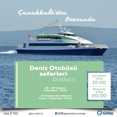 Bozcaada'ya Deniz Otobüsü Seferleri Başlıyor