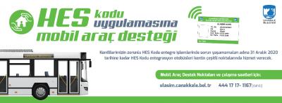 Çanakkale Belediyesi'nden HES Kodu Uygulamasına Mobil Destek