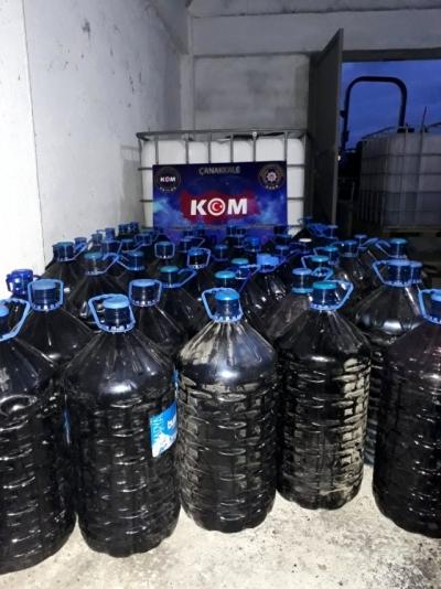 Çanakkale'de 4 Bin 100 Litre Kaçak Şarap Ele Geçirildi