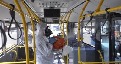Çanakkale'de Toplu Taşıma Araçları ve Okullar Dezenfekte Ediliyor