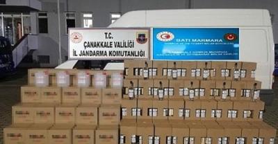 Çan'da Bin 225 Litre Kaçak Etil Alkol Ele Geçirildi