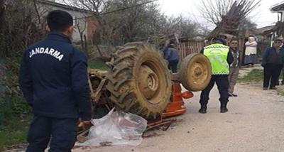 Çan'da Devrilen Traktörün Altında Kalıp, Öldü