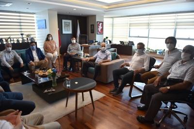 CHP Genel Başkan Yardımcısı Muharrem Erkek'ten Başkan Gökhan'a Ziyaret
