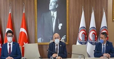 ÇOMÜ Genel Sekreterliğinde Devir Teslim Töreni Gerçekleşti
