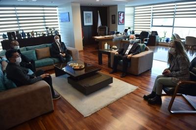 ÇOMÜ Heyetinden Başkan Gökhan'a Ziyaret