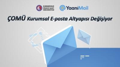 ÇOMÜ Kurumsal E-posta Altyapısı Değişiyor