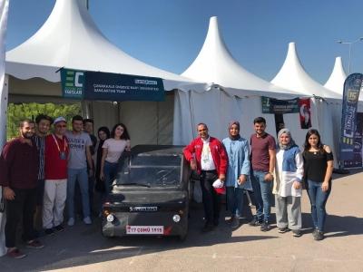 ÇOMÜ Sancaktar Teknofestte Çanakkale'yi Temsil Etti