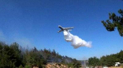 Ecebat'ta Korkutan Orman Yangını