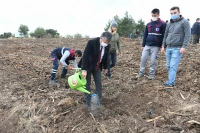 'Geleceğe Nefes' Projesi Kapsamında Fidanlar Toprakla Buluştu