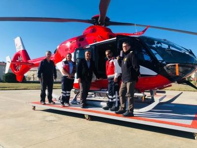 Helikopter  Ambulans Çanakkale'de Hizmete Başladı