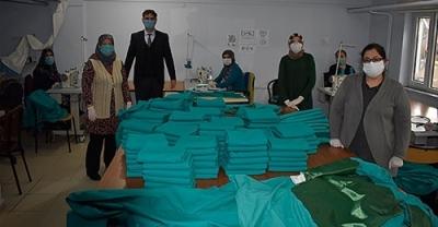 İŞKUR Kursiyerleri Biga'nın Maske İhtiyacına Büyük Katkı Sağladı