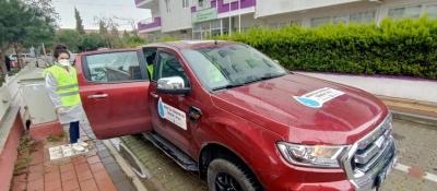 Mobil Su Yükleme ve Tahsilat Aracı Görev Başında