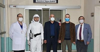 Pandemi Hastanesi'ne GESTAŞ'tan HEPA Filtreli Solunum Cihazı