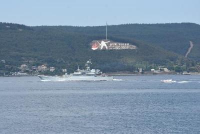 Rus Savaş Gemisi ve Denizaltısı Çanakkale Boğazı'ndan Geçti