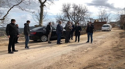 Vali Aktaş, Ayvacık İlçesi Ahmetçe Köyü'nde İncelemelerde Bulundu