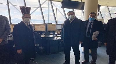 Vali Aktaş, Gemi Trafik Hizmetleri Merkezinde İncelemelerde Bulundu