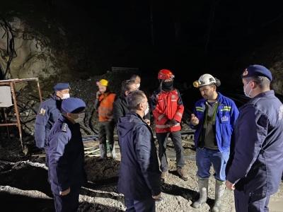 Vali Aktaş, Göçük Meydana Gelen Maden Ocağında İncelemelerde Bulundu