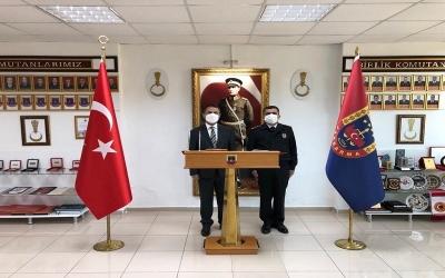 Vali  AKTAŞ, İl Jandarma Komutanlığını Ziyaret Etti