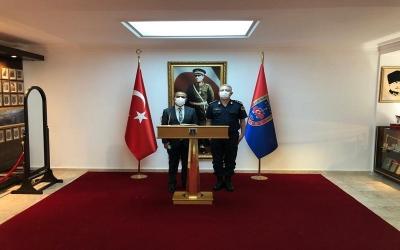 Vali İlhami AKTAŞ, Jandarma Eğitim Merkez Komutanlığını Ziyaret Etti